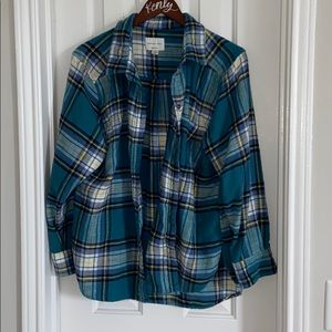 American Eagle Blue Flannel